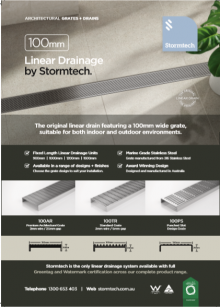 Stormtech 100mm Stainless Steel Linear Drainage
