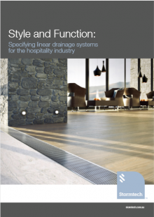 Style and Function: Specifying linear drainage systems for the hospitality industry