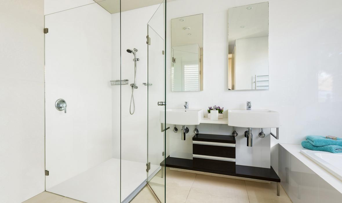 Stormtech Collaborates With Corian For No Grout Shower Floor
